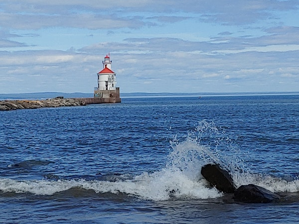 The Superior Entry Lighthouse sits at the end of Wisconsin Point. The property was sold for $159,000 last month.