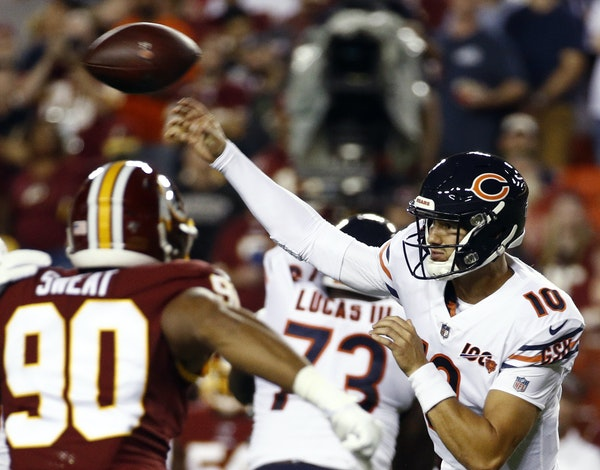 The Vikings will strive to squeeze a difference-making mistake or two out of Bears quarterback Mitchell Trubisky on Sunday