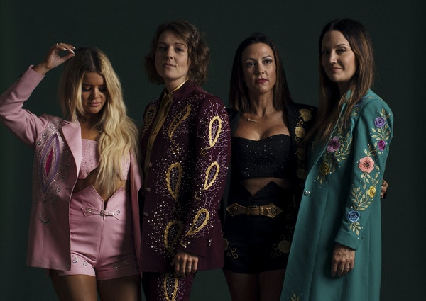 The Highwomen, from left:Maren Morris, Brandi Carlile, Amanda Shires and Natalie Hemby.