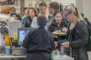 University of Minnesota students made their way through the cashier lines at Coffman Union's Minnesota Marketplace on Friday, Sept. 13, 2019, in Min