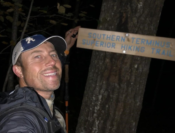 Rory Anderson after successfully hitting the fastest known time on the Superior Trail.