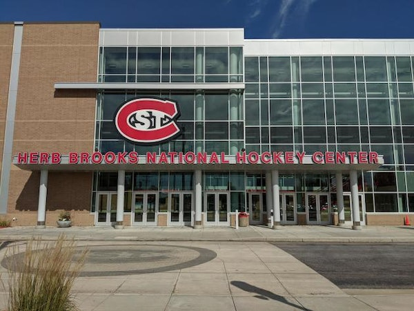 The Herb Brooks National Hockey Center, home of the St. Cloud State Huskies.