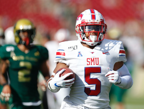 SMU running back Xavier Jones is tied for the national lead with Wisconsin's Jonathan Taylor in touchdowns with 11.