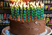 A chocolate cake made by Rick Nelson.