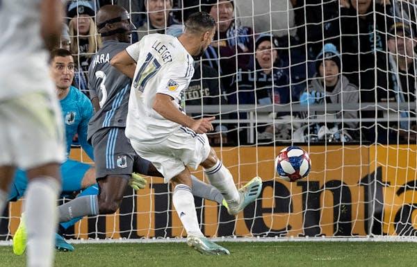 Sebastian Lletget of LA Galaxy scored a goal in the second half.