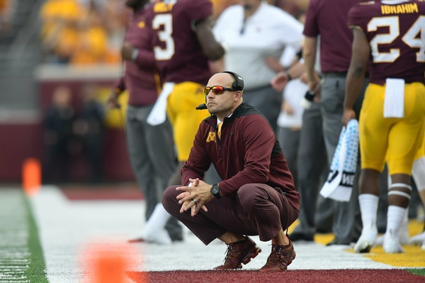 P. J. Fleck goes for his first Big Ten opener victory Saturday, on the road vs. Purdue.