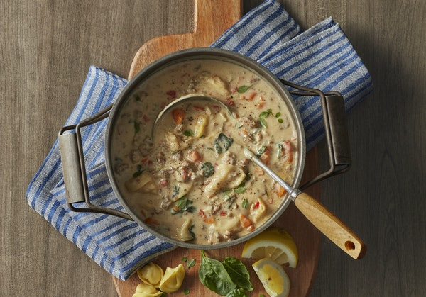 Recipes: Creamy Sausage, Tortellini, Spinach and Basil Soup, and more family-friendly dishes