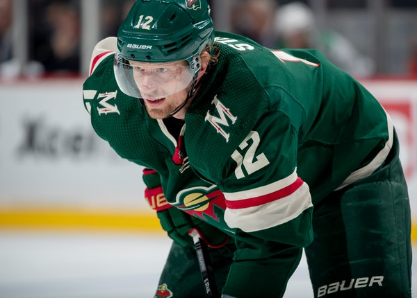 Wild center Eric Staal's goal production fell from 42 goals to 22 last season.