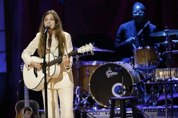 Jade Bird performs during the Americana Honors & Awards show Wednesday, Sept. 11, 2019, in Nashville, Tenn.