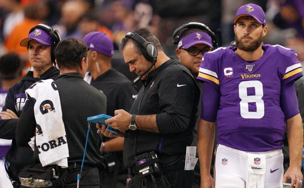 Kirk Cousins glanced at a scoreboard showing the Vikings on the losing side — something the quarterback has seen too often in recent history.