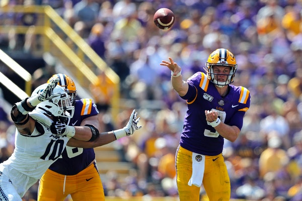 LSU's Joe Burrow is one of several quarterbacks who have found stardom this year after transferring from another school.