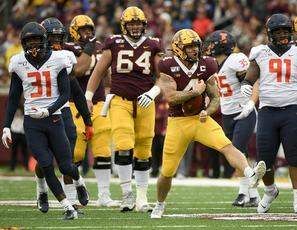 The Gophers' outlook on the future is far less restrained than the emotion Shannon Brooks displayed after picking up a first down against Illinois.