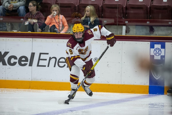 With five goals and five assists in four games, Gophers sophomore Taylor Heise is off to a strong start.