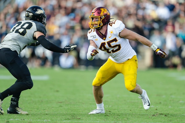 Gophers linebacker and former Eden Prairie star Carter Coughlin has been hampered by injuries this season, but he's starting to feel better.