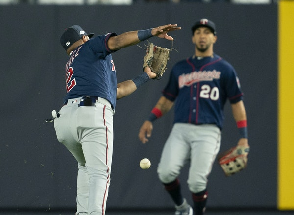 Luis Arraez lunged for a popup and didn't catch it Friday, revealing a flaw in the Twins' plan. They had a healthier second baseman available. 2)