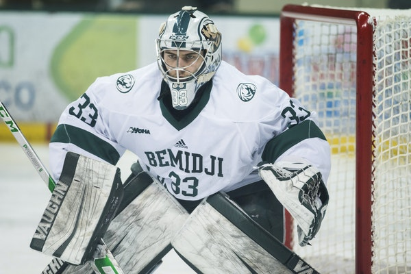 Bemidji State junior goaltender Zach Driscoll played for Eastview High School.