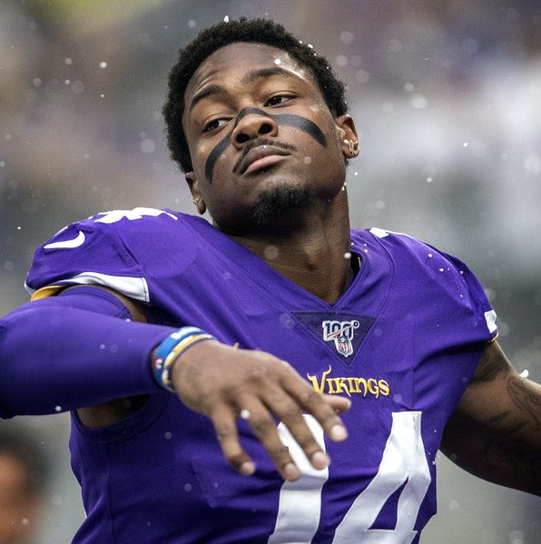 Stefon Diggs has 13 catches through the Vikings' first four games.