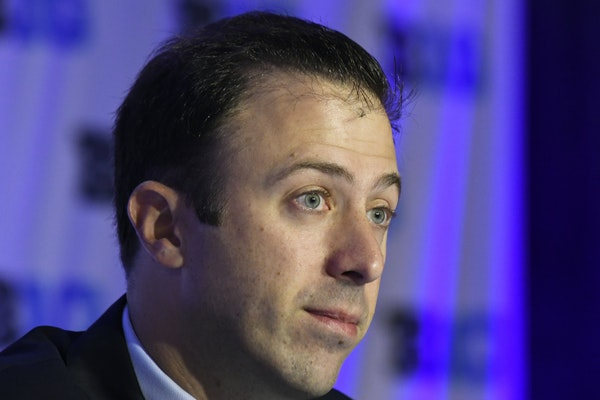 Gophers coach Richard Pitino addressed reporters Wednesday at Big Ten Media Day in Rosemont, Ill.