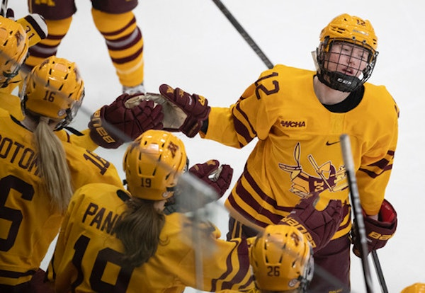 The Gophers' Grace Zumwinkle is one of 12 players with Minnesota ties on Team USA's Under-22 Select team for its three-game series against Canada.