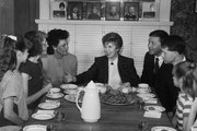 Raisa Gorbachev, the wife of the last Soviet leader, Mikhail S. Gorbachev, visits the Karen and Steve Watson family at their south Minneapolis home du