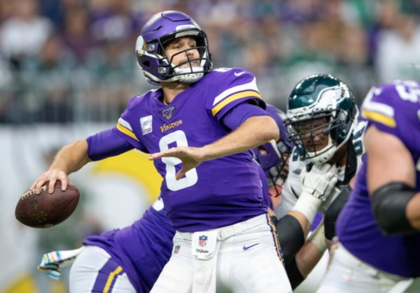 Pass protection set up Cousins for big plays throughout win over Eagles