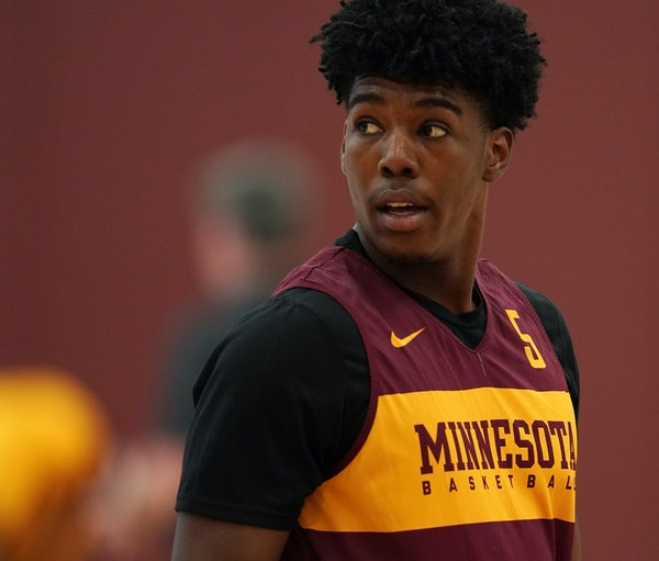 """Gophers guard Marcus Carr sat out last year after transferring from Pittsburgh. """"I really took last year just to learn about the team and how best I"""