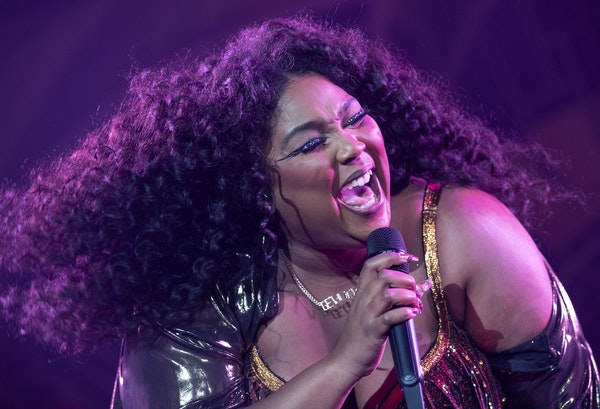 Lizzo performed at the Armory in Minneapolis on Wednesday night, the first of two sold-out shows.