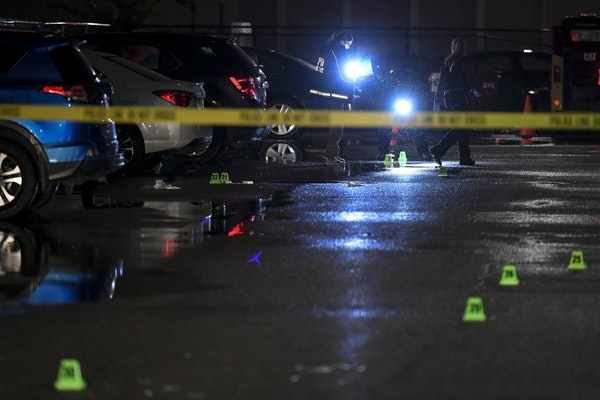 Investigators worked the scene of a homicide on Wednesday, Oct. 2, 2019 at the Cedars 94 apartment complex in Minneapolis.
