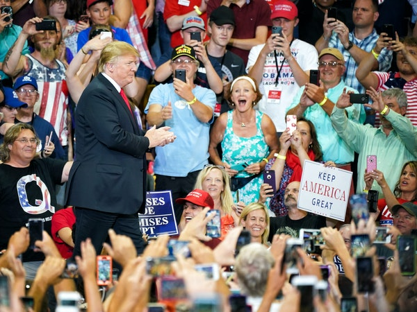 President Donald Trump, shown in 2018, will hold a rally Thursday in Minneapolis, and the city will bear some of the costs.
