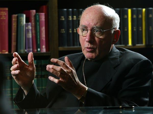 Former Archbishop Harry J. Flynn, pictured in 2003.