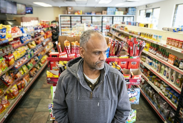 Adil Albosaad, owner of E and L Supermarket and Deli, lost customers after menthol sales were banned.
