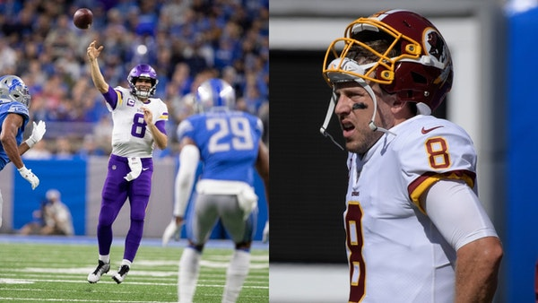 Kirk Cousins, left, and Case Keenum will face their old teams for the first time when the Vikings play host to the Redskins on Thursday night at U.S.