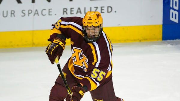 Gophers freshman defenseman Matt Staudacher made his college debut last Friday at Colorado College.