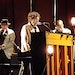Bob Dylan played upright piano during his concert Oct. 24, 2019, at the Mankato Civic Center. As he offered tunes from all six decades of his recordin