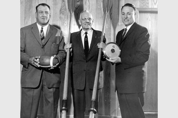 Bronko Nagurski, Walt Hoover and Fortune Gordien