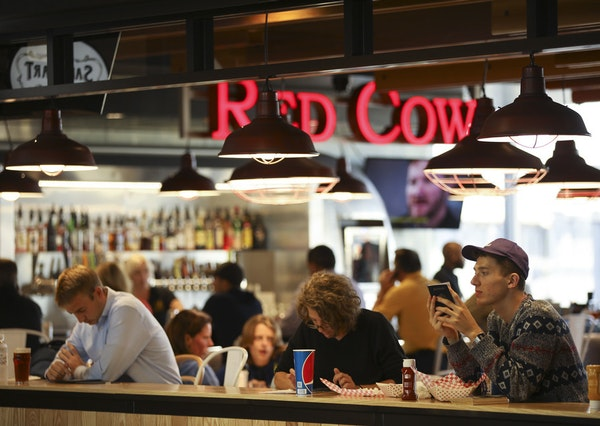 Above: Red Cow is located in the newly opened Food Truck Alley on Concourse E.