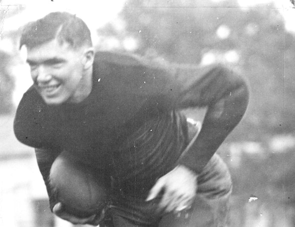 Earl Martineau, shown in 1923, was a two-time All-America in football and a standout in track and field for the Gophers.