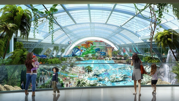 The proposed water park beside the Mall of America in Bloomington would be one of the largest in the country if constructed.