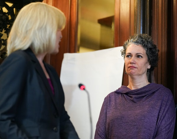 CTC managing director Kimberly Motes apologized on behalf of the theater directly to survivor Laura Stearns during Friday's news conference. Jeff Ande