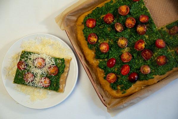 Recipe: Whole-Wheat Focaccia With Kale Pesto