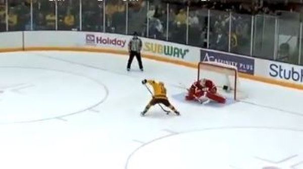 Amy Potomak scored during Sunday's shootout to give Minnesota an extra point after a tie with Wisconsin.