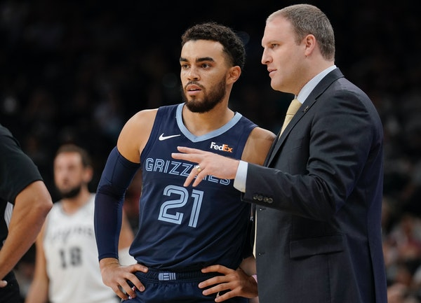 """Grizzlies coach Taylor Jenkins said former Wolves point guard Tyus Jones, 23, is """"this great calming presence."""""""