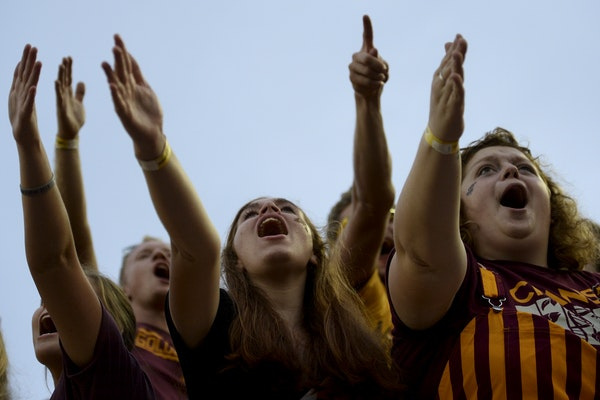 Gophers fans celebrated earlier this season.