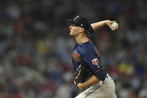 Jake Odorizzi, a pending free agent, pitched in the August rain at Target Field.