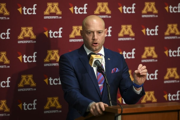Gophers head coach P.J. Fleck spoke to the media minutes after signing a 7-year contract extension Tuesday afternoon.