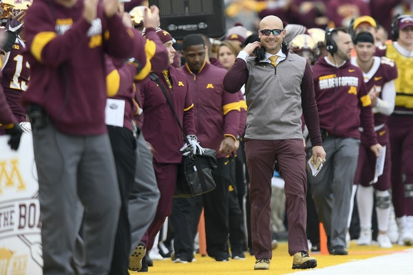 Gophers coach P.J. Fleck led the team to a 31-26 victory over Penn State last Saturday at TCF Bank Stadium.