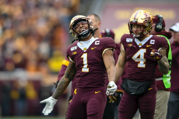 The Gophers' Rodney Smith (1) and Shannon Brooks (4), along with Mohamed Ibrahim, all are competitive and could be the No. 1 running back on most team