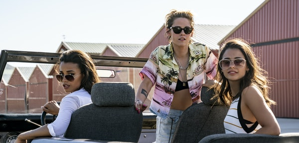 """Ella Balinska, Kristen Stewart and Naomi Scott in """"Charlie's Angels."""""""