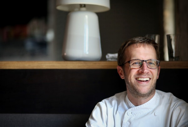 Paul Berglund was chosen new Best Chef Midwest for James Beard and was photographed at the Bachelor Farmer restaurant where he works Wednesday, May 4,