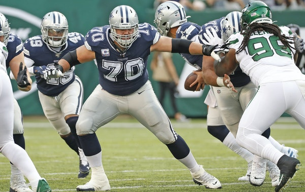 Cowboys' line makes offense run — and pass well, too